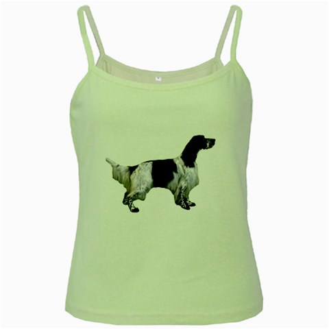 English Setter Full Green Spaghetti Tank