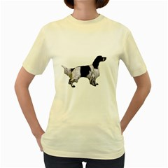 English Setter Full Women s Yellow T-Shirt