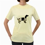 English Setter Full Women s Yellow T-Shirt Front