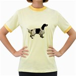 English Setter Full Women s Fitted Ringer T-Shirts Front