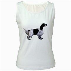 English Setter Full Women s White Tank Top