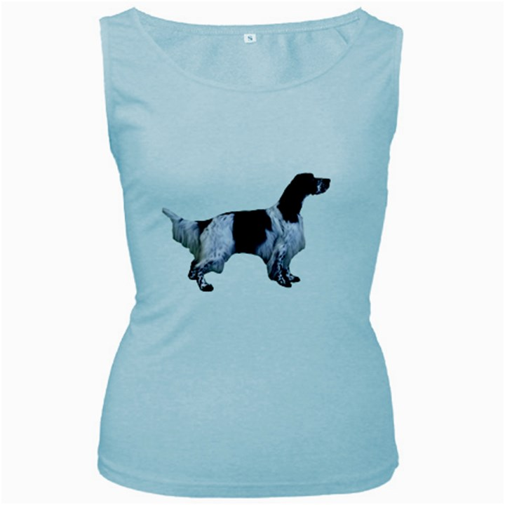 English Setter Full Women s Baby Blue Tank Top