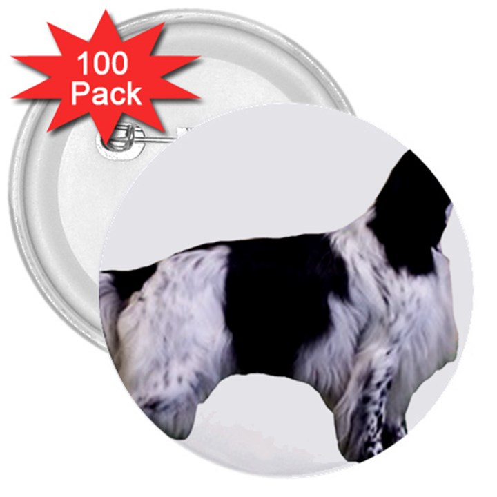English Setter Full 3  Buttons (100 pack)