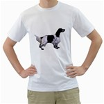 English Setter Full Men s T-Shirt (White) (Two Sided) Front