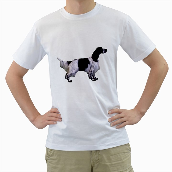 English Setter Full Men s T-Shirt (White) (Two Sided)
