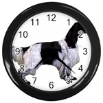 English Setter Full Wall Clocks (Black) Front
