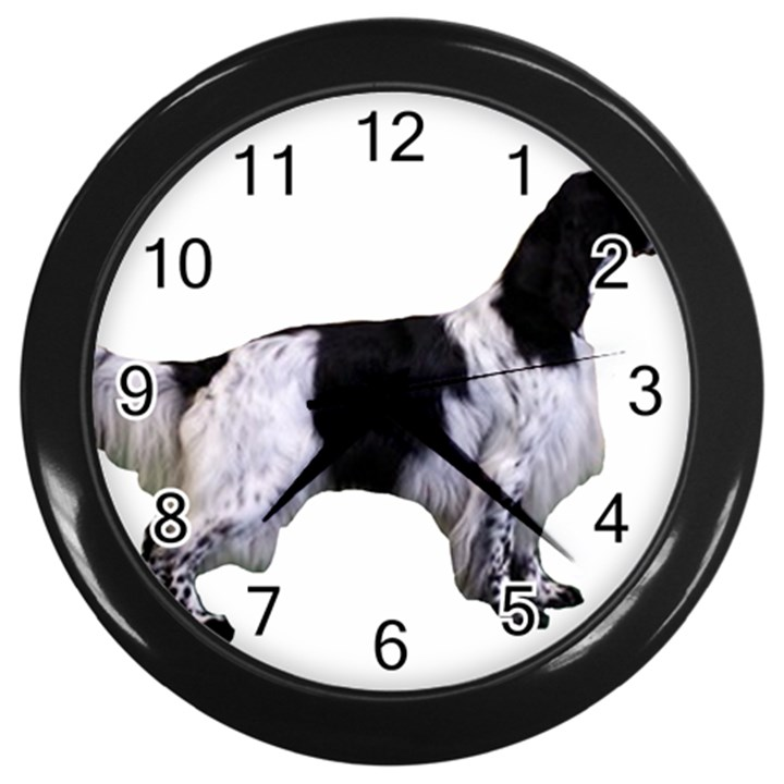 English Setter Full Wall Clocks (Black)