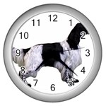 English Setter Full Wall Clocks (Silver)  Front