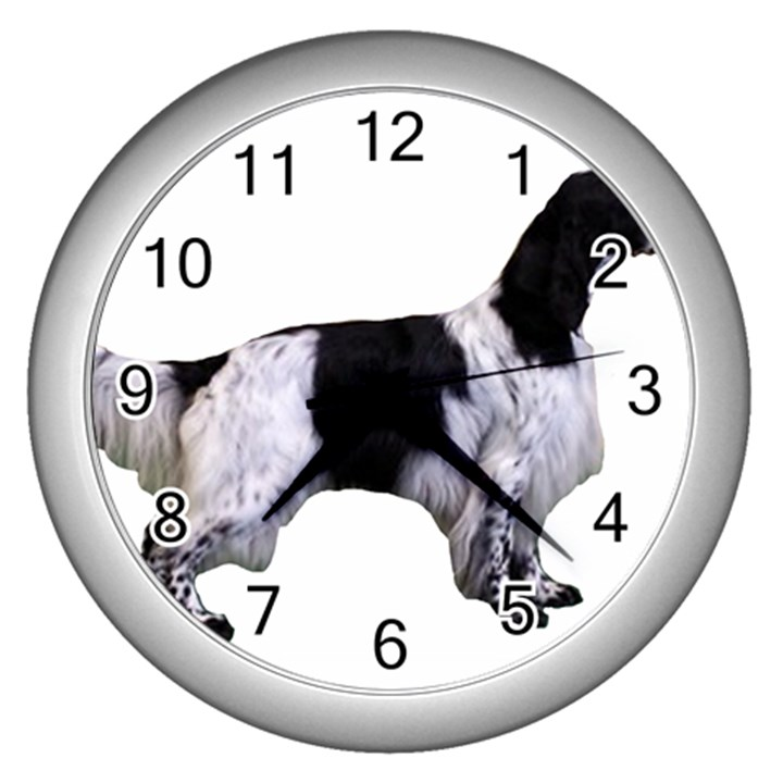 English Setter Full Wall Clocks (Silver)