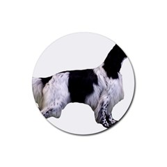 English Setter Full Rubber Coaster (Round)