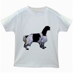 English Setter Full Kids White T-Shirts