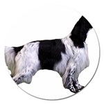 English Setter Full Magnet 5  (Round) Front