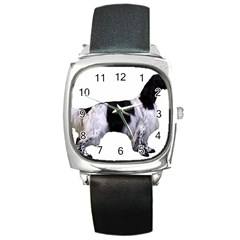 English Setter Full Square Metal Watch