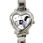 English Setter Full Heart Italian Charm Watch Front