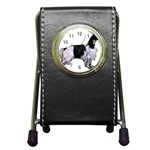 English Setter Full Pen Holder Desk Clocks Front
