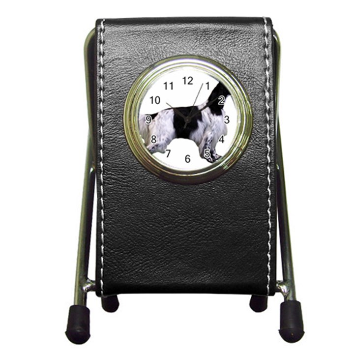 English Setter Full Pen Holder Desk Clocks