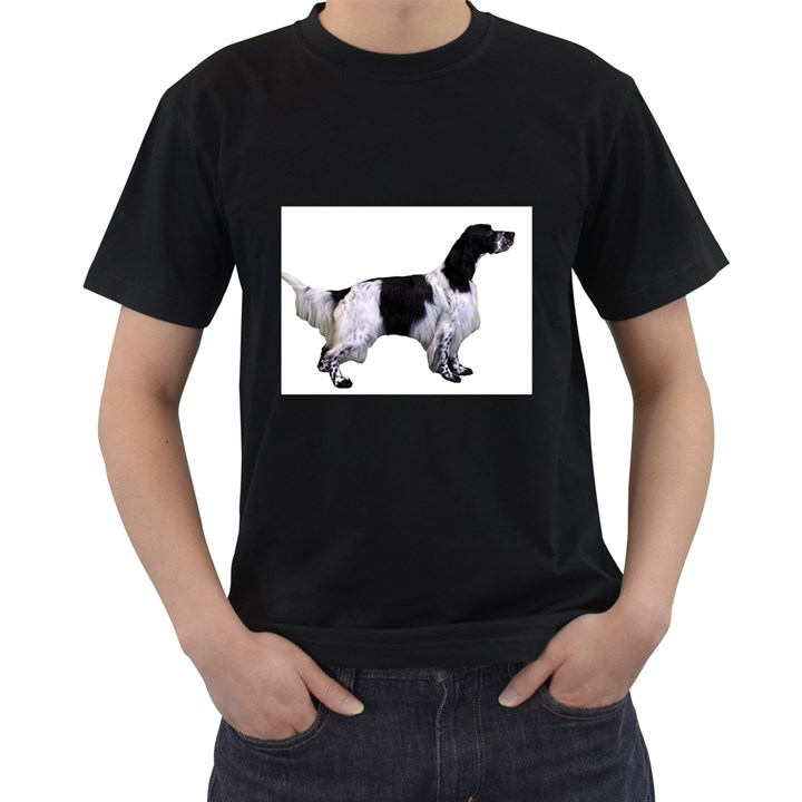 English Setter Full Men s T-Shirt (Black) (Two Sided)