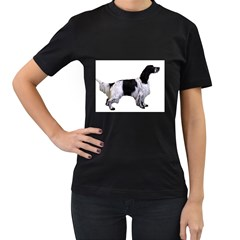 English Setter Full Women s T-Shirt (Black) (Two Sided)
