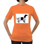 English Setter Full Women s Dark T-Shirt Front
