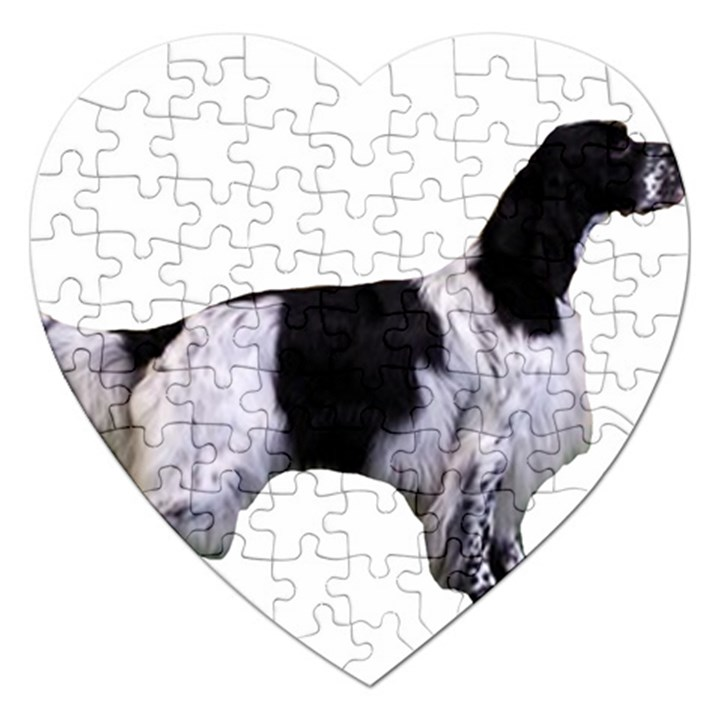 English Setter Full Jigsaw Puzzle (Heart)