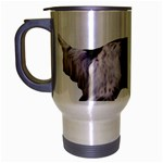 English Setter Full Travel Mug (Silver Gray) Left