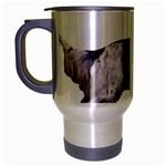 English Setter Full Travel Mug (Silver Gray) Left