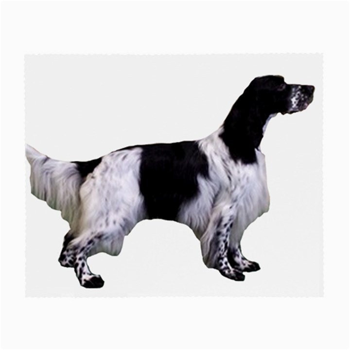 English Setter Full Small Glasses Cloth