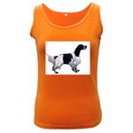 English Setter Full Women s Dark Tank Top Front