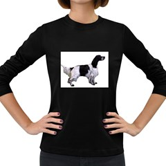 English Setter Full Women s Long Sleeve Dark T Shirts