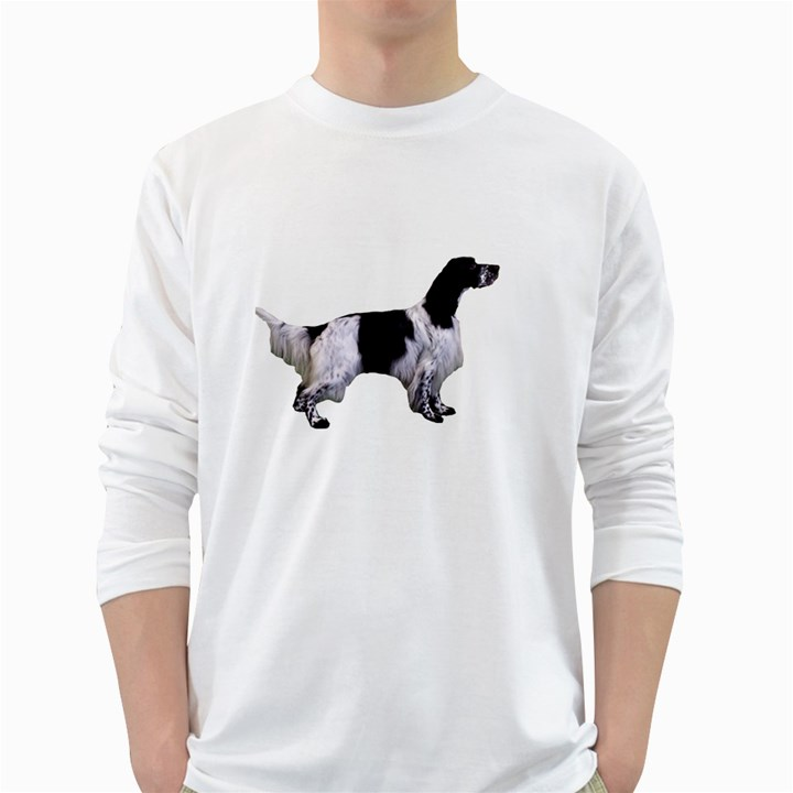 English Setter Full White Long Sleeve T-Shirts