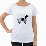 English Setter Full Women s Loose-Fit T-Shirt (White) Front