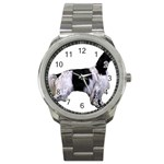 English Setter Full Sport Metal Watch Front