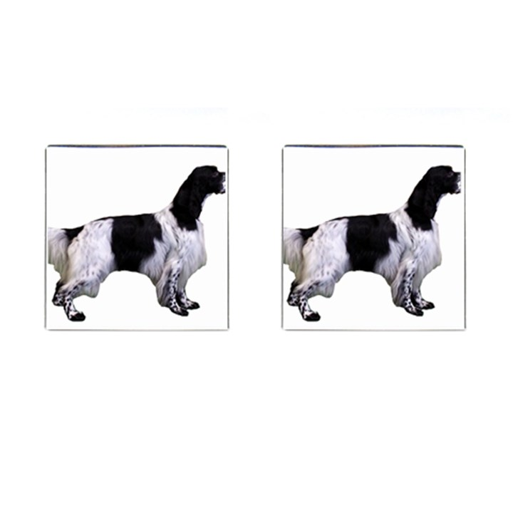 English Setter Full Cufflinks (Square)