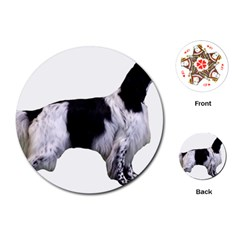 English Setter Full Playing Cards (Round)