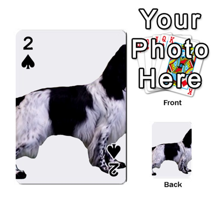 English Setter Full Playing Cards 54 Designs