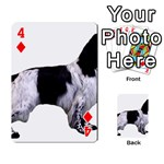 English Setter Full Playing Cards 54 Designs  Front - Diamond4