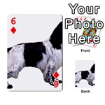 English Setter Full Playing Cards 54 Designs  Front - Diamond6