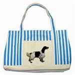 English Setter Full Striped Blue Tote Bag Front