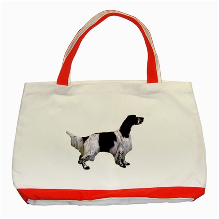 English Setter Full Classic Tote Bag (Red)