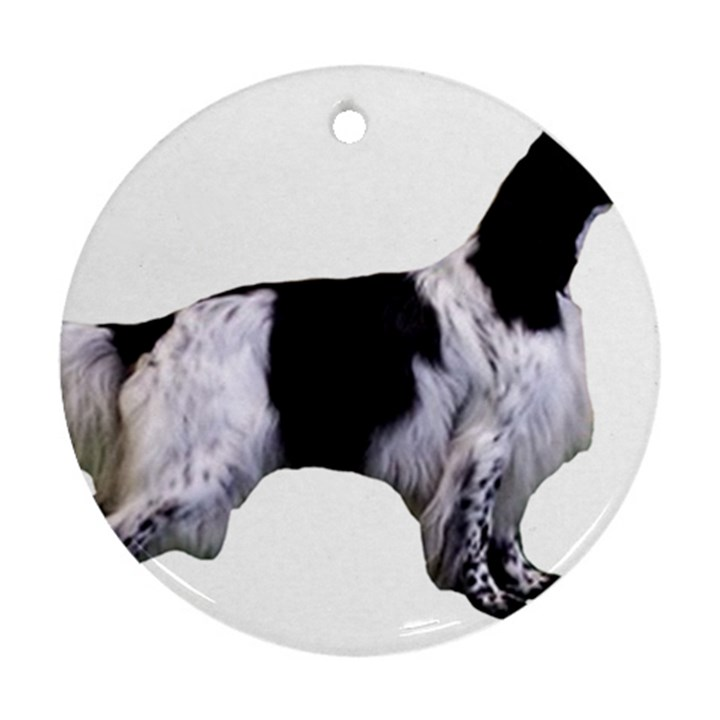 English Setter Full Round Ornament (Two Sides)