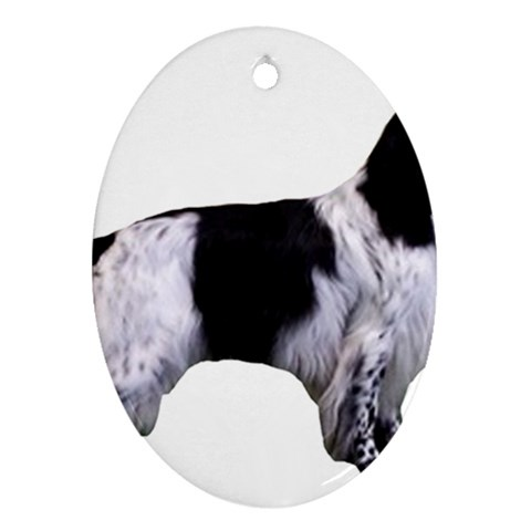 English Setter Full Oval Ornament (Two Sides)