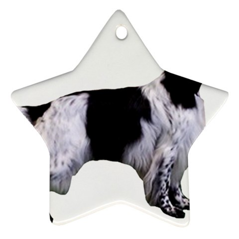 English Setter Full Star Ornament (Two Sides)