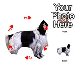 English Setter Full Playing Cards 54 (Round)  Front - HeartJ