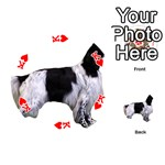 English Setter Full Playing Cards 54 (Round)  Front - HeartK