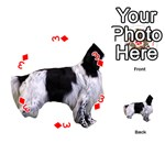 English Setter Full Playing Cards 54 (Round)  Front - Diamond3