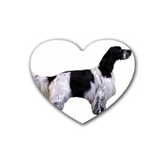 English Setter Full Rubber Coaster (Heart)