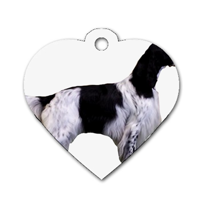 English Setter Full Dog Tag Heart (One Side)