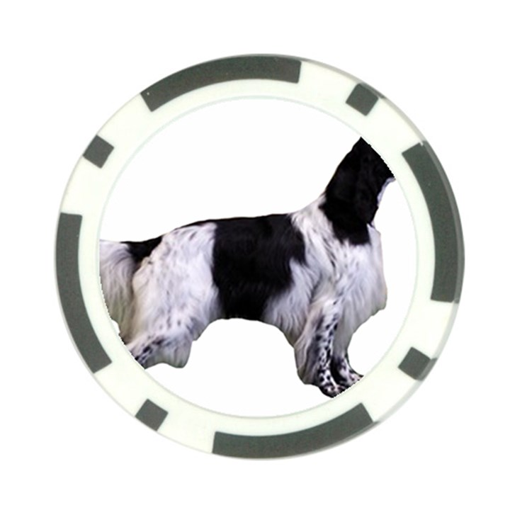 English Setter Full Poker Chip Card Guards