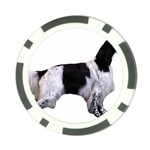 English Setter Full Poker Chip Card Guards Back