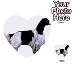 English Setter Full Multi-purpose Cards (Heart)  Front 2